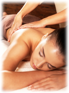 Woman getting a massage (photo)